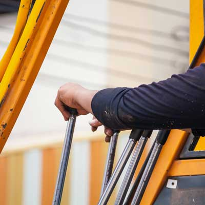 Man Operating Crane